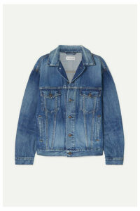 Balenciaga - Oversized Printed Denim Jacket - Mid denim