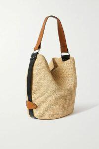 Preen Line - Hafsu Asymmetric Fringed Checked Crepe De Chine Midi Skirt - Black