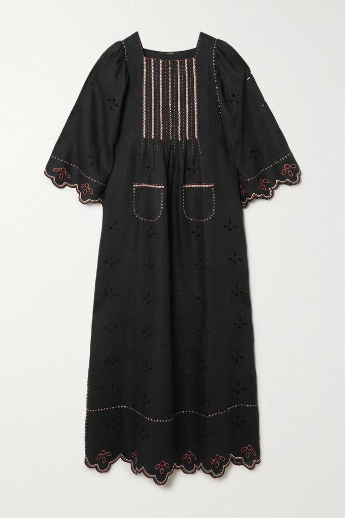 Marni - Satin-trimmed Checked Twill Coat - Black