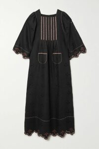 Marni - Satin-trimmed Checked Twill Coat - Black