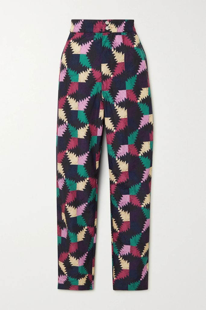 Co - Gathered Crepe De Chine Maxi Dress - Light blue