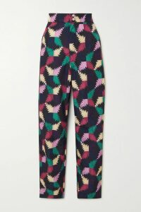 Co - Gathered Crepe De Chine Maxi Dress - Light blue