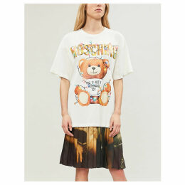 Teddy-print cotton-jersey T-shirt