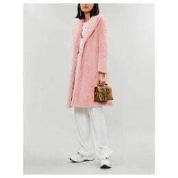 Foster faux-fur longline coat