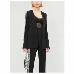 Sequin-embellished crepe jacket