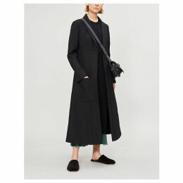 Botanical wool-blend coat