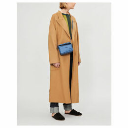Botanical belted wool and mohair-blend coat