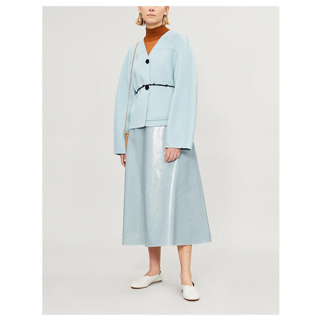 Belted cashmere jacket