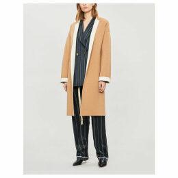 Coa stretch-cashmere coat
