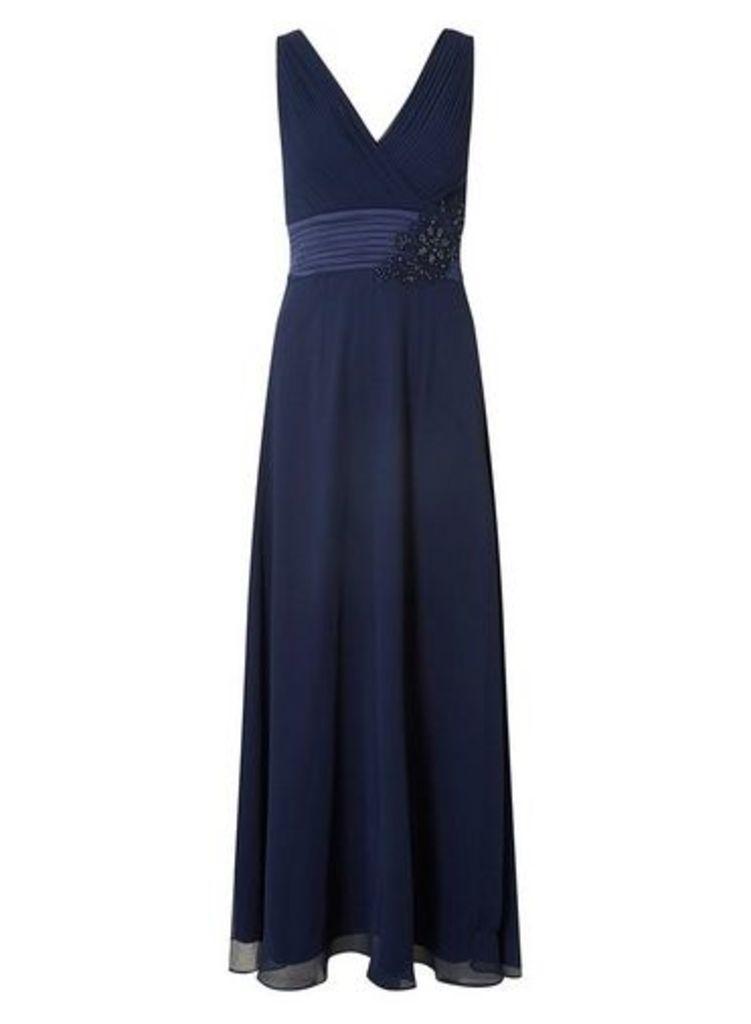 Womens **Showcase Navy 'Aria' Maxi Dress- Blue, Blue
