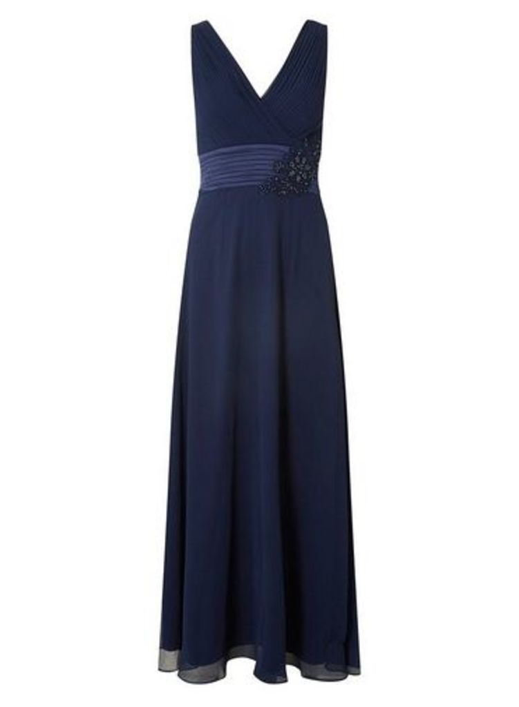 Womens **Showcase Navy 'Aria' Maxi Dress- Blue, Blue