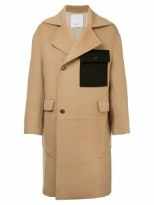 Ports V double-breasted coat - Brown