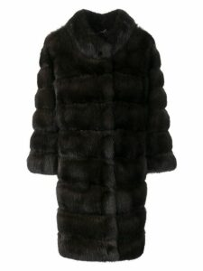 Cara Mila Sabina Sable Fur Coat - Brown