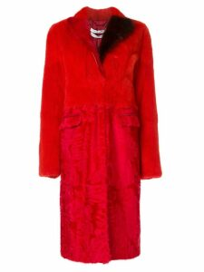 Givenchy panelled coat - Red