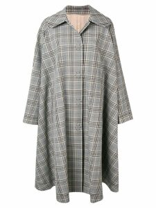 Mm6 Maison Margiela checked oversized coat - Black