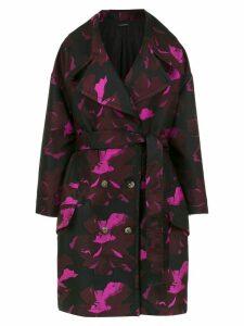 À La Garçonne floral oversized coat - Pink