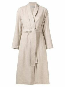 Vince wrap tie coat - Neutrals