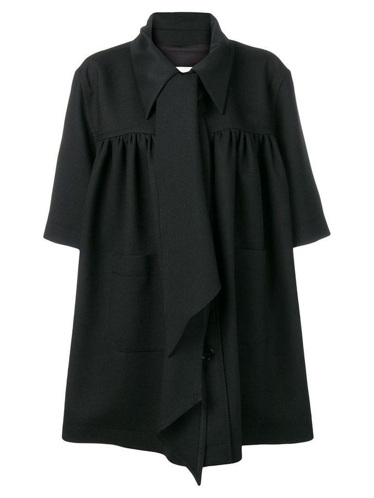 Mm6 Maison Margiela oversized tie-neck coat - Black