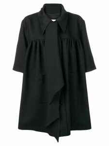 Mm6 Maison Margiela oversized tie-neck coat - Black