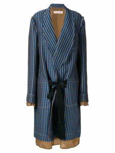 Marni single-breasted geometric coat - Blue