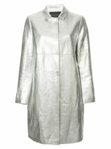 Fabiana Filippi metallic effect single breasted coat - Silver