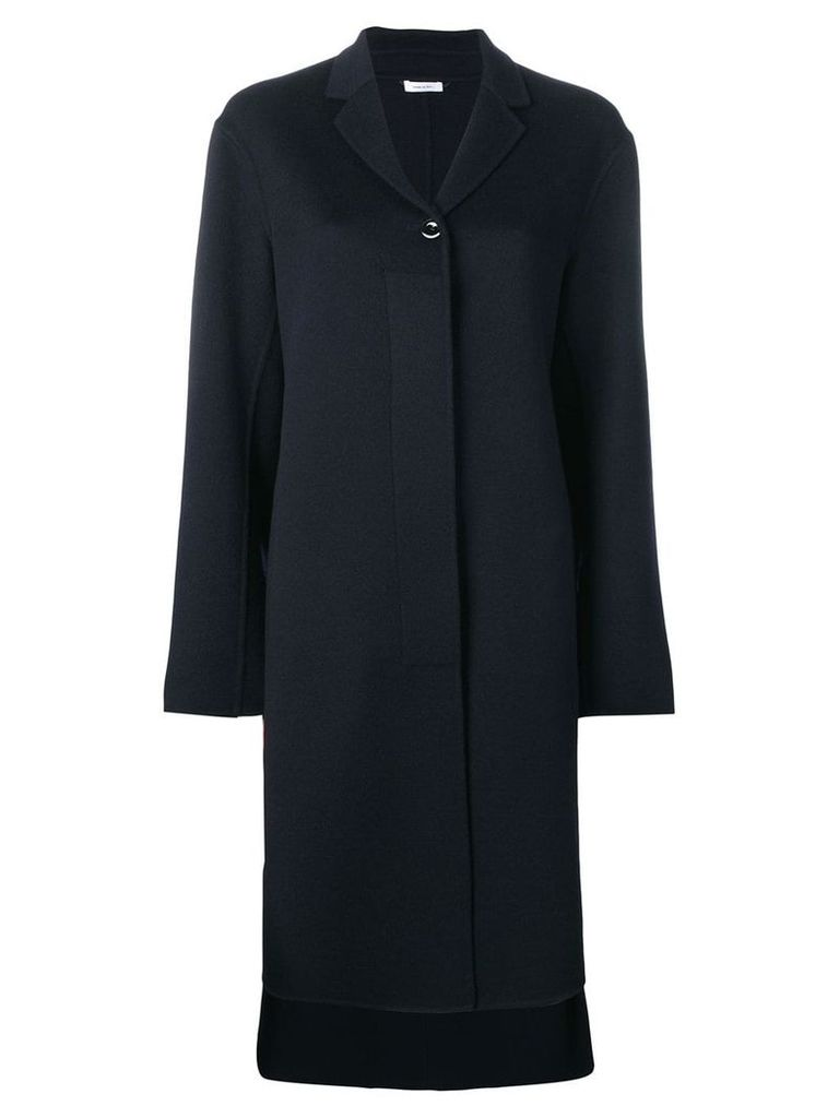 Jil Sander single breasted coat - Blue