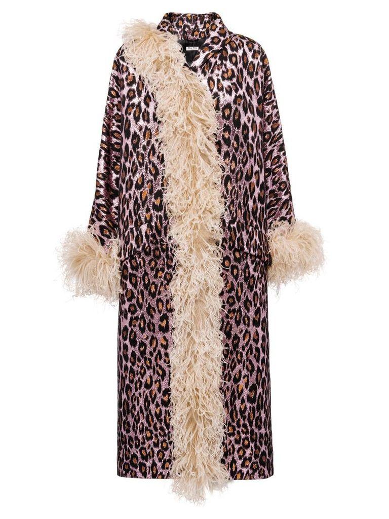 Miu Miu leopard print coat - Pink
