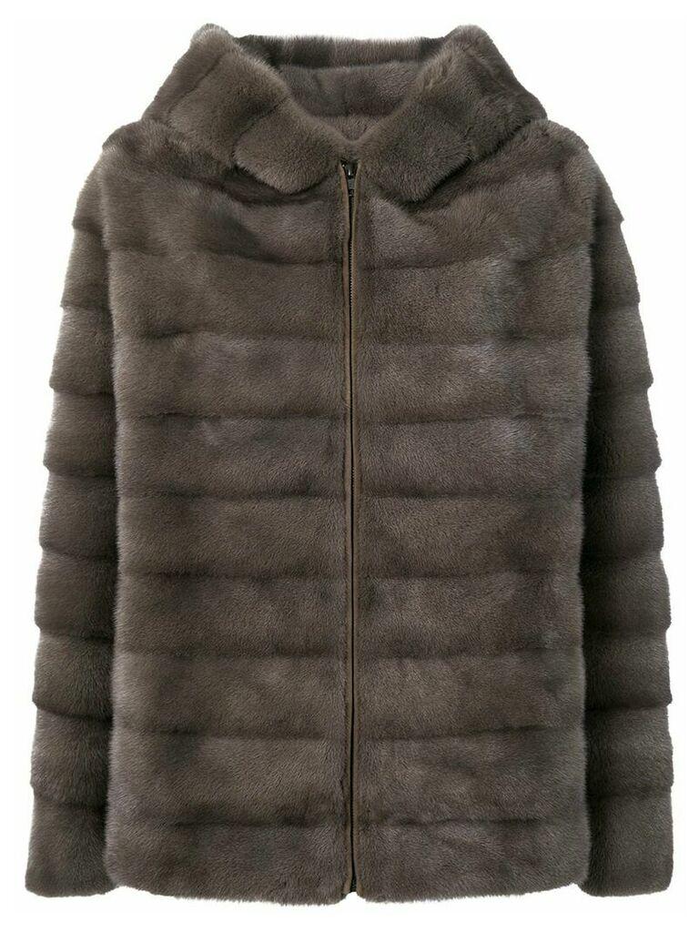 Liska Valencia quilted coat - Neutrals