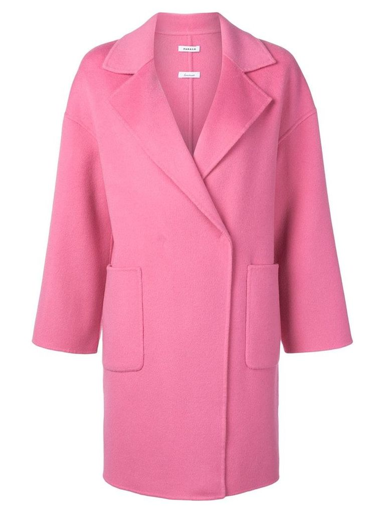 P.A.R.O.S.H. Lottie single breasted coat - Pink