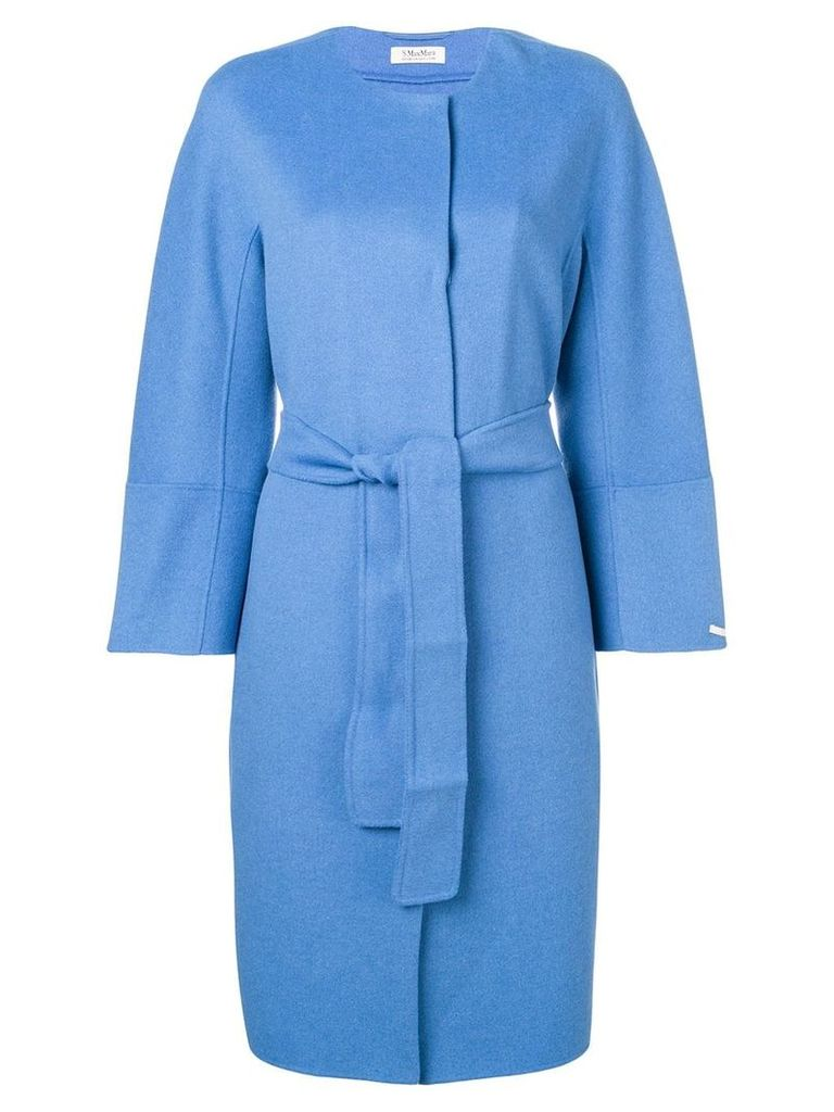 'S Max Mara belted midi coat - Blue