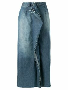 Mm6 Maison Margiela gathered front denim skirt - Blue