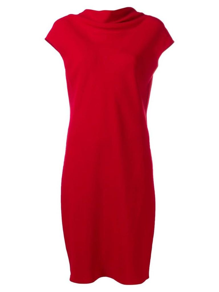 Theory loose neck mini dress - Red
