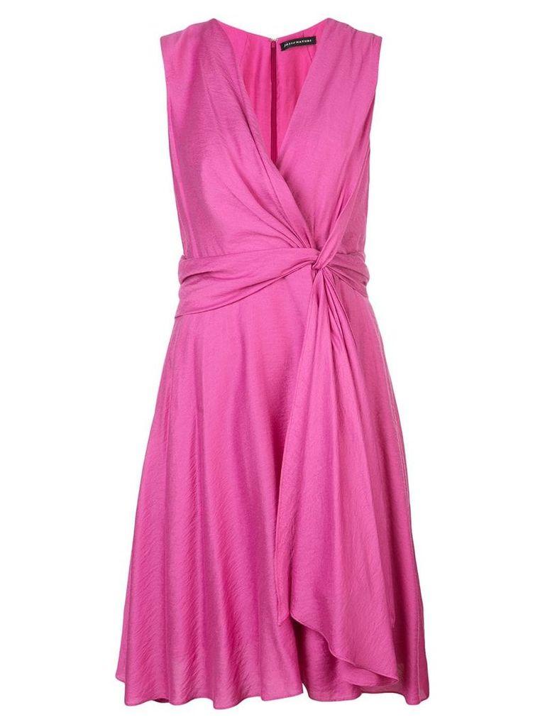 Josie Natori knot tie dress - Pink