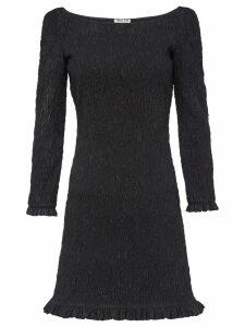 Miu Miu boat neck mini dress - Black