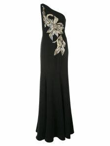 Marchesa Notte one-shoulder gown - Black
