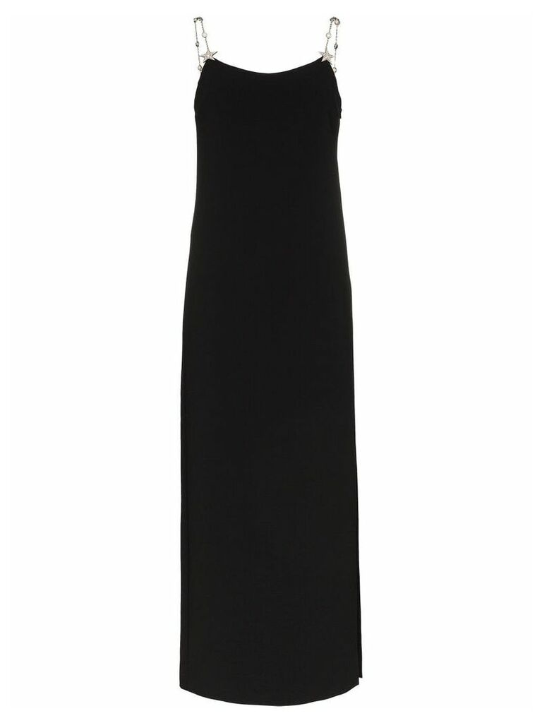 Miu Miu star embellished chain strap maxi dress - Black