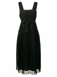 Bottega Veneta striped tie waist dress - Black