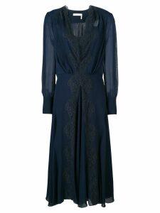 Chloé lace-trimmed dress - Blue