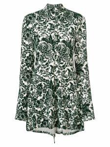 Rosie Assoulin paisley printed mini dress - Green