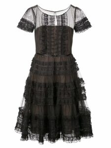 Marchesa Notte A-line dress - Black