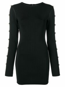 David Koma oversized crystal embellishments dress - Black