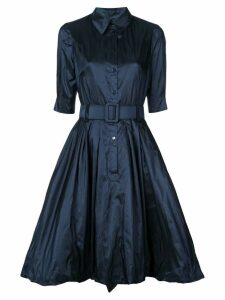 Oscar de la Renta belted midi dress - Blue