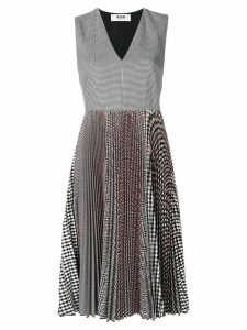 MSGM checked pleated dress - Multicolour