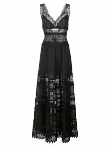 Charo Ruiz embroidered maxi dress - Black
