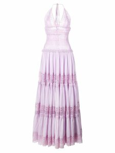 Charo Ruiz embroidered maxi dress - Purple