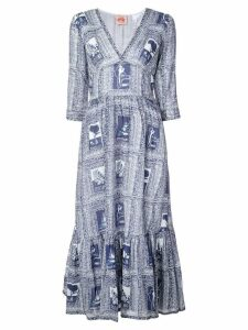 Le Sirenuse Italy print full dress - Blue