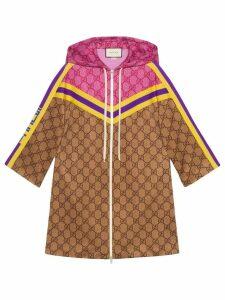 Gucci GG technical jersey dress with zip - Neutrals