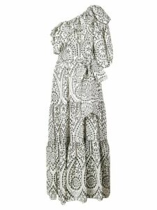 Lisa Marie Fernandez one shoulder maxi dress - White