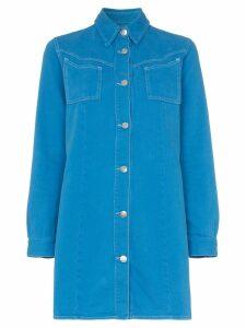 Ganni Krest cotton shirt dress - Blue