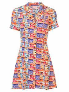 Lhd printed mini shirt dress - Multicolour